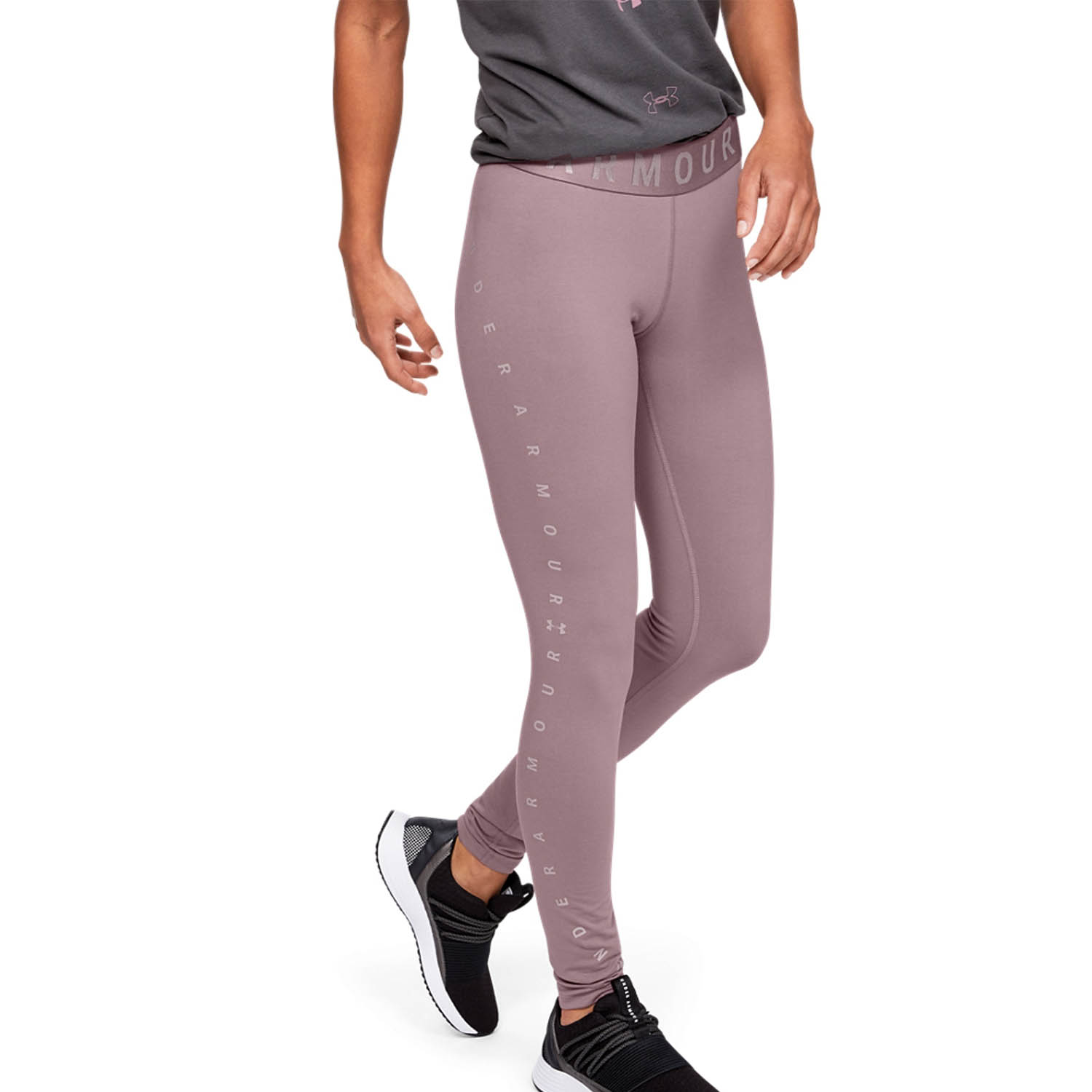 Under Armour Favorite Graphic Tights - Pink