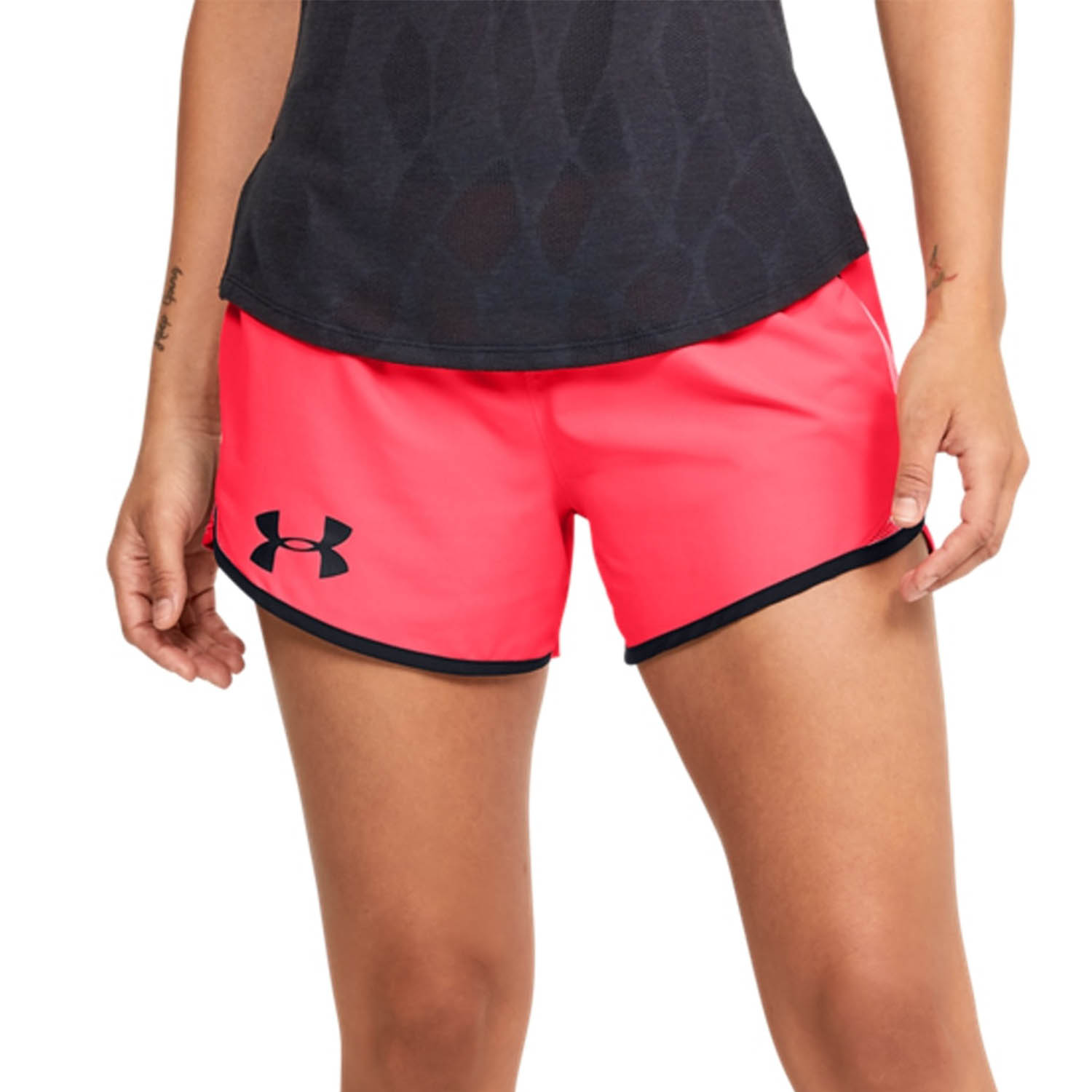 Under Armour Fly By 2.0 Wordmark 3in Shorts - Red