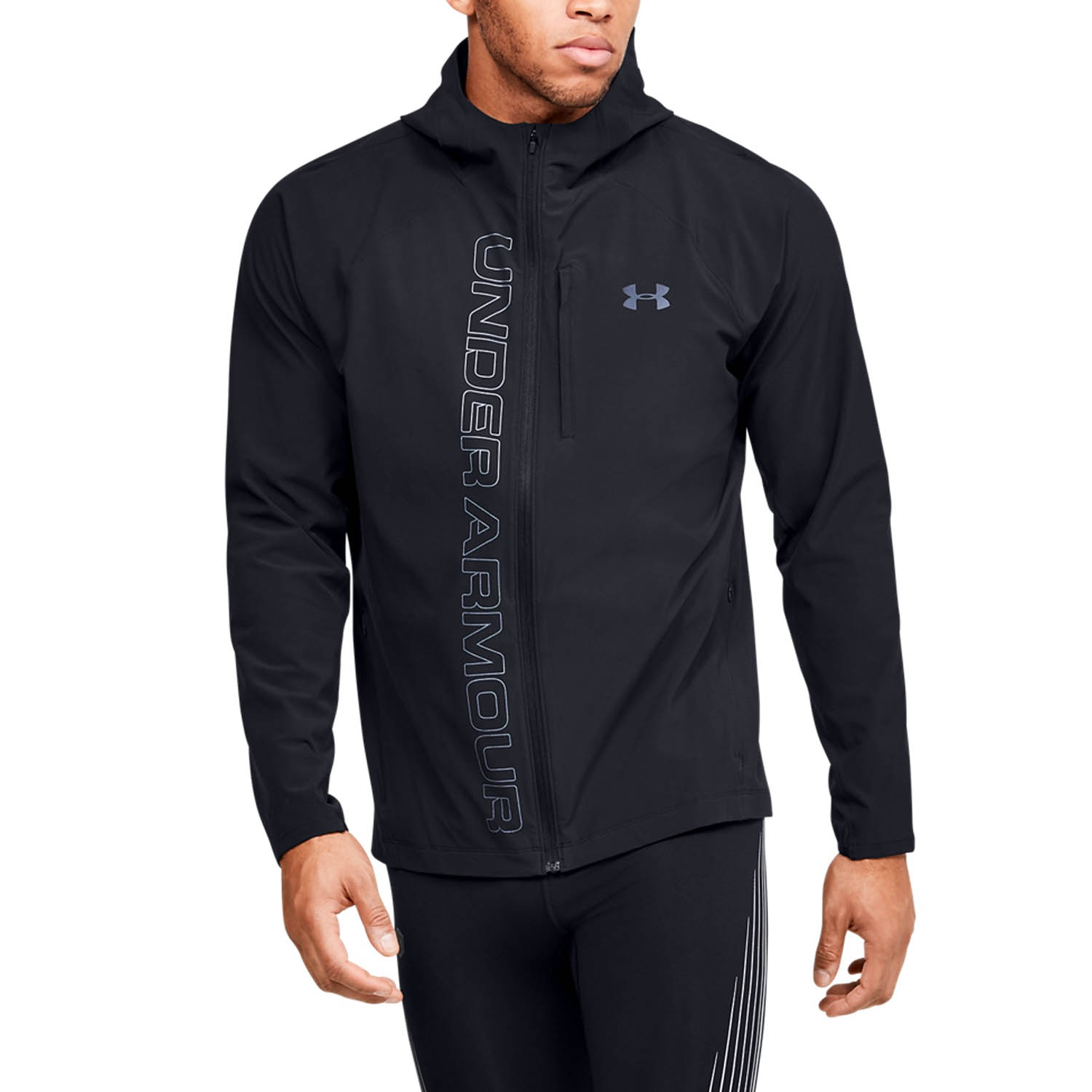 Under Armour Qualifier OutRun Giacca - Black/Reflective