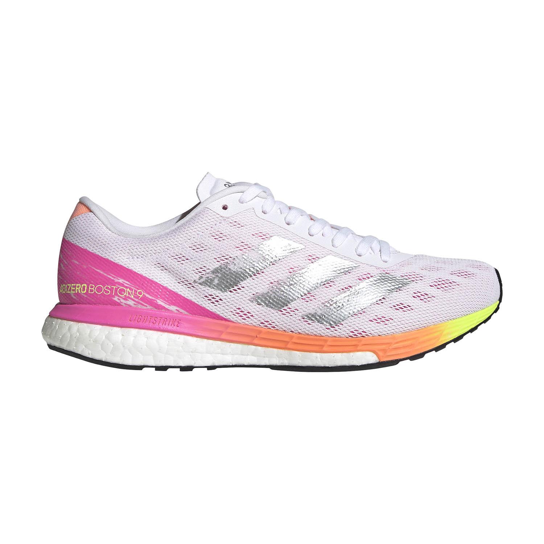 adidas Adizero Boston 9 - Ftwr White/Silver Met/Screaming Pink