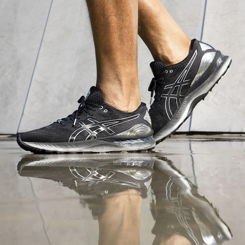 Asics Gel Nimbus 23 Platinum - Black/Pure Silver