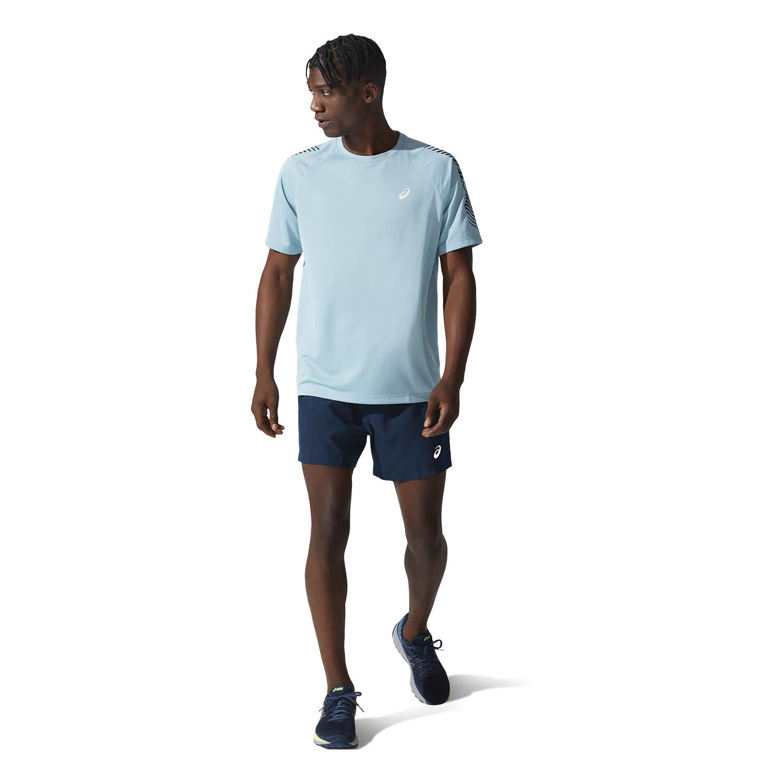 Asics Icon Logo Camiseta - Smoke Blue/French Blue