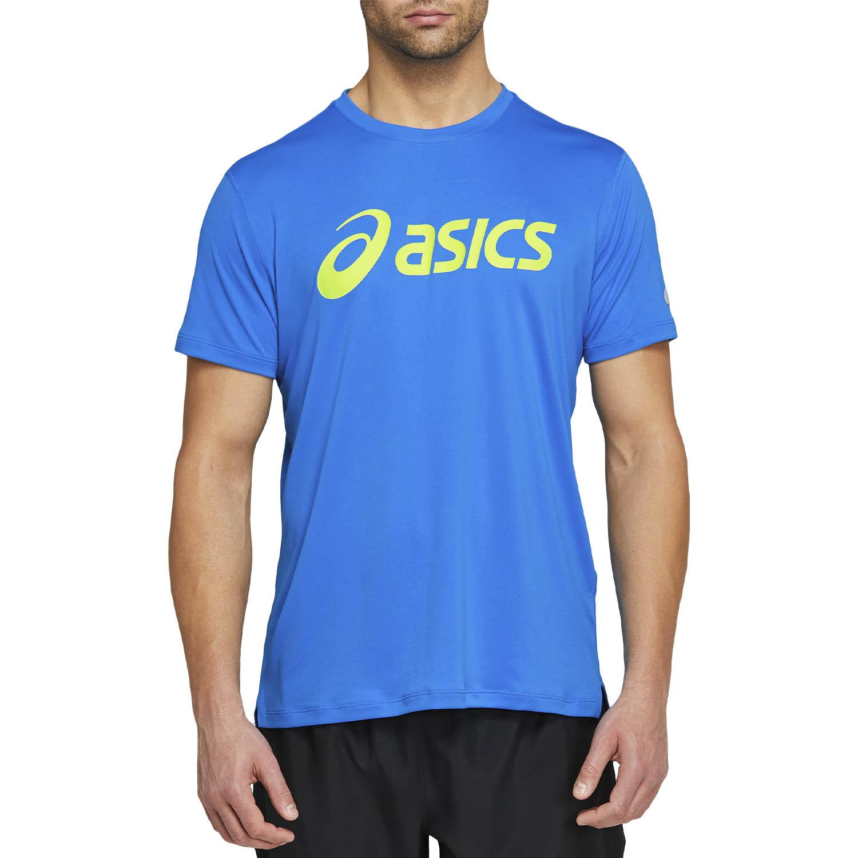 Asics Silver Logo Camiseta - Directoire Blue/Lime Zest
