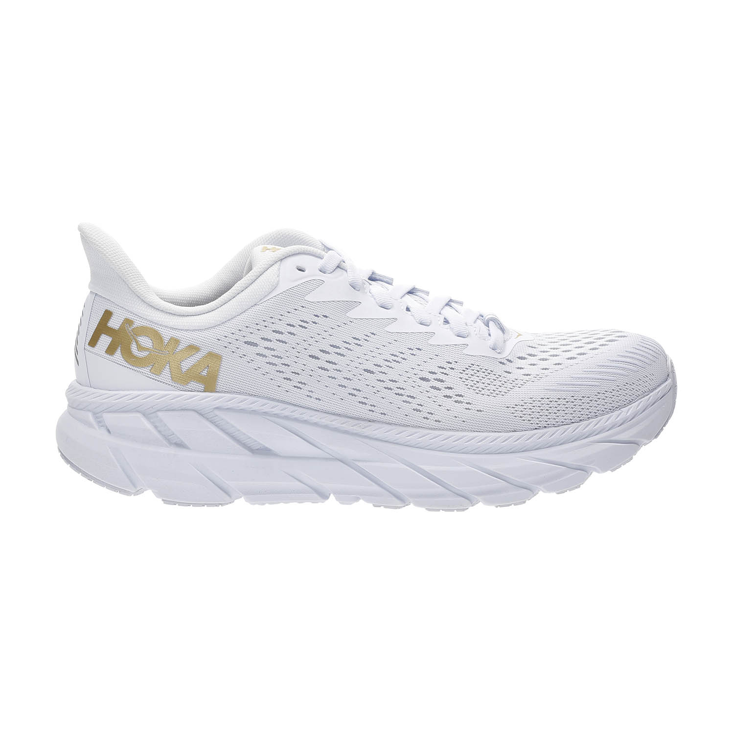 Hoka One One Clifton 7 - White/Golden Egg