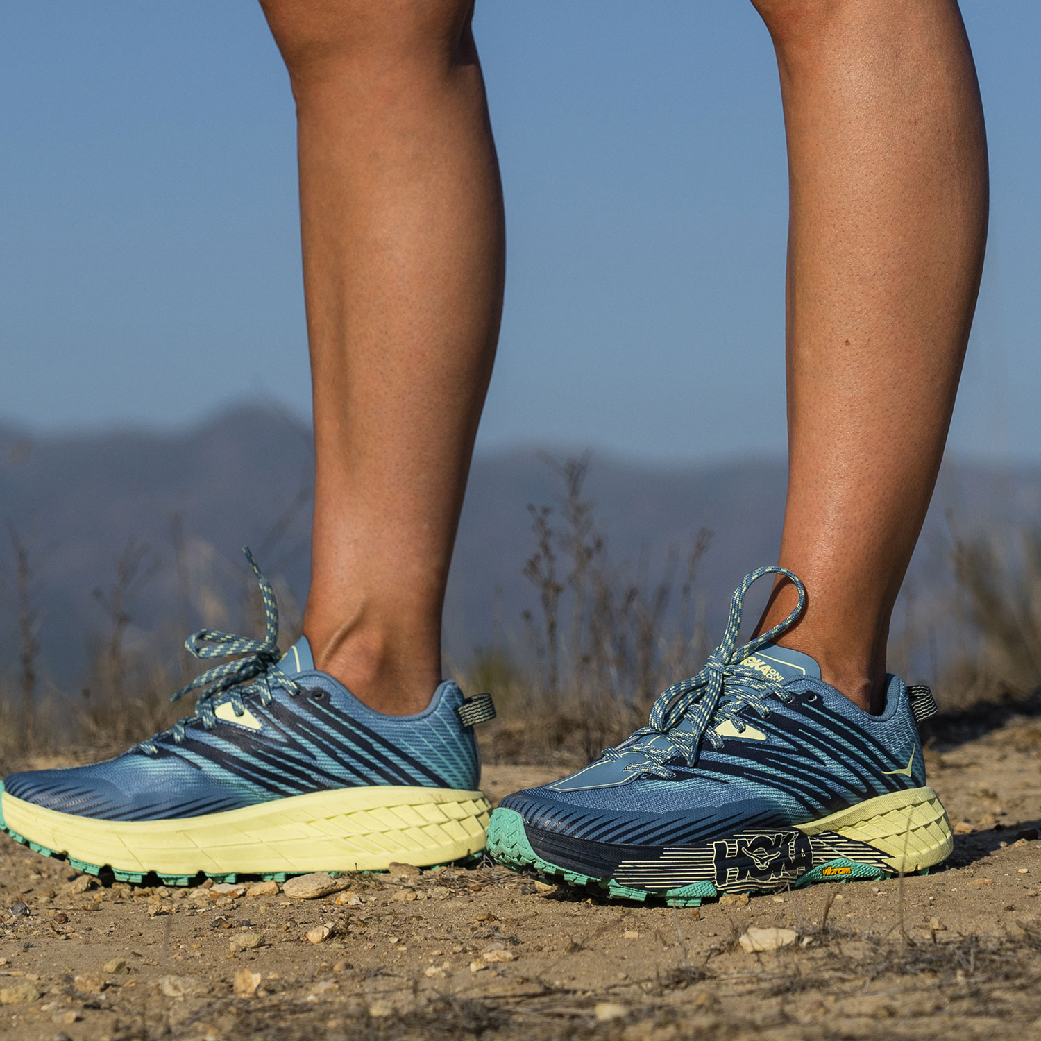 Hoka One One Speedgoat 4 - Provincial Blue/Luminary Green