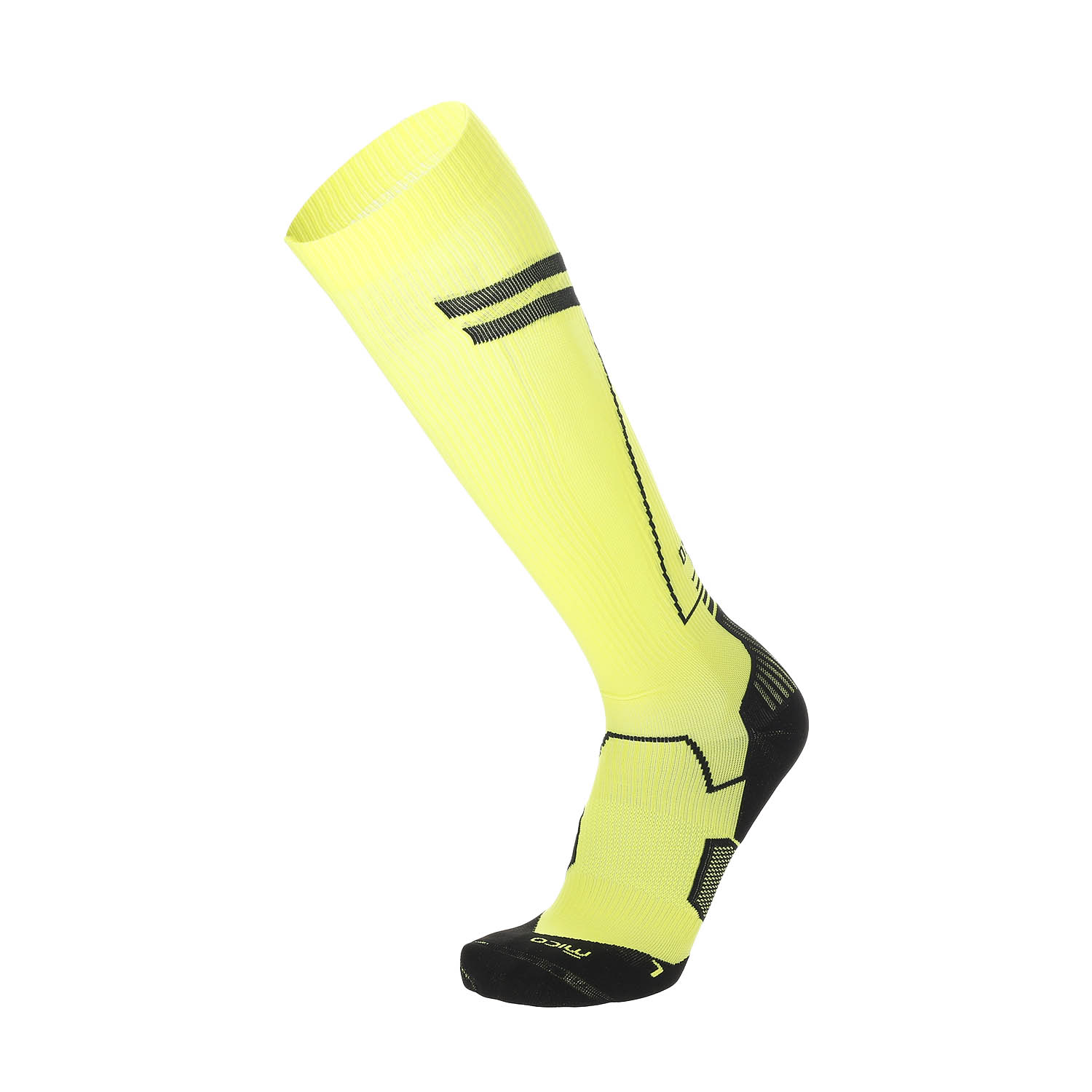 Mico Oxi-jet Medium Weight Compression Calcetines - Giallo Fluo