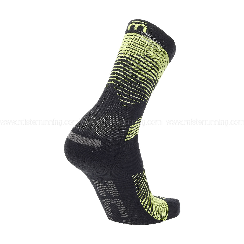 Mico Professional Light Weight Socks - Nero/Giallo Fluo