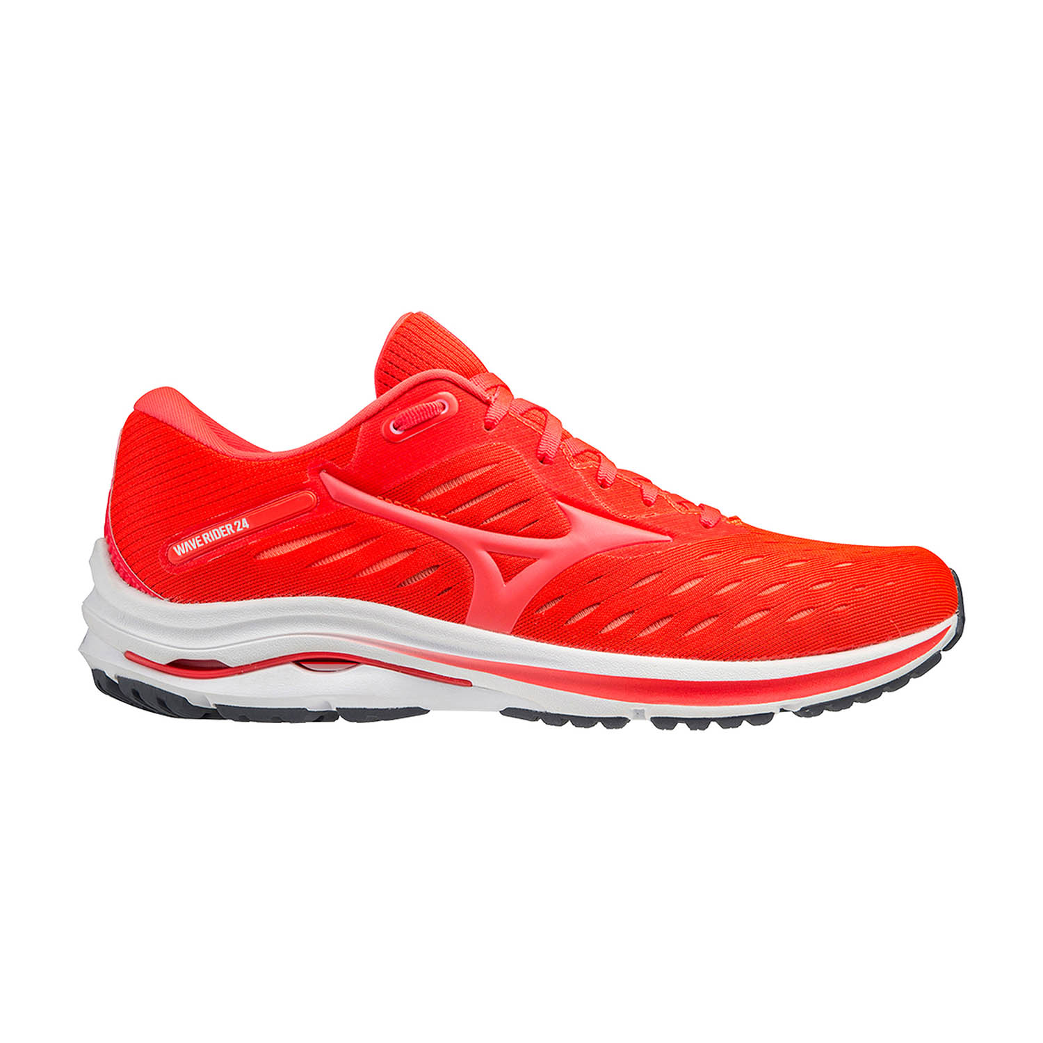 Mizuno Wave Rider 24 - Ignition Red/Fiery Coral 2