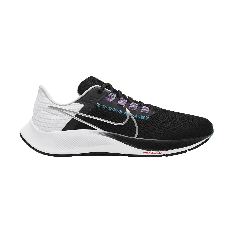Nike Air Zoom Pegasus 38 - Black/Metallic Silver/White
