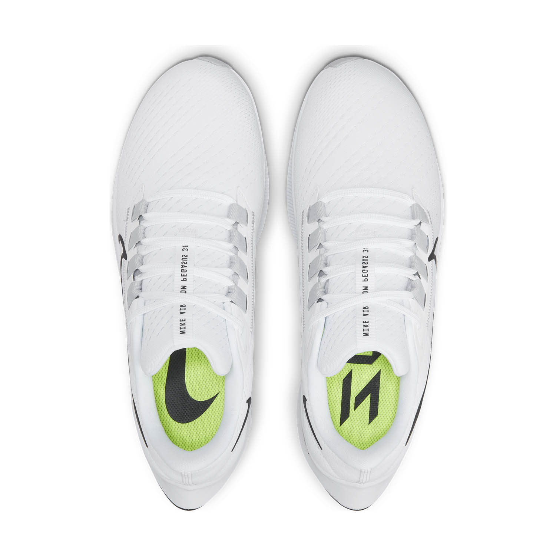 Nike Air Zoom Pegasus 38 - White/Black/Pure Platinum/Volt