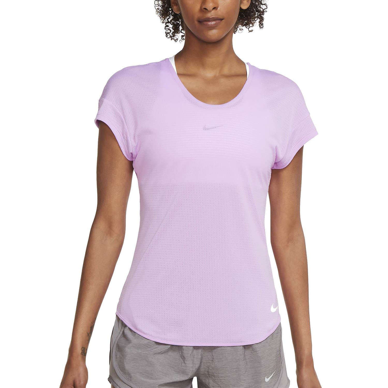 Nike Breathe Cool T-Shirt - Fuchsia Glow/Reflective Silver