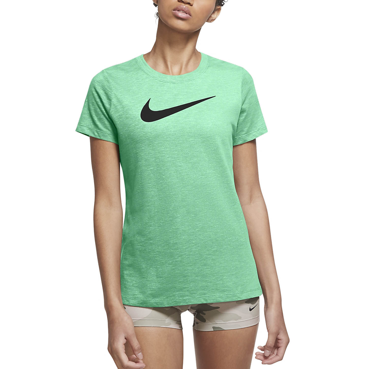 Nike Dry Crew T-Shirt - Green Glow/Barely Volt/Black