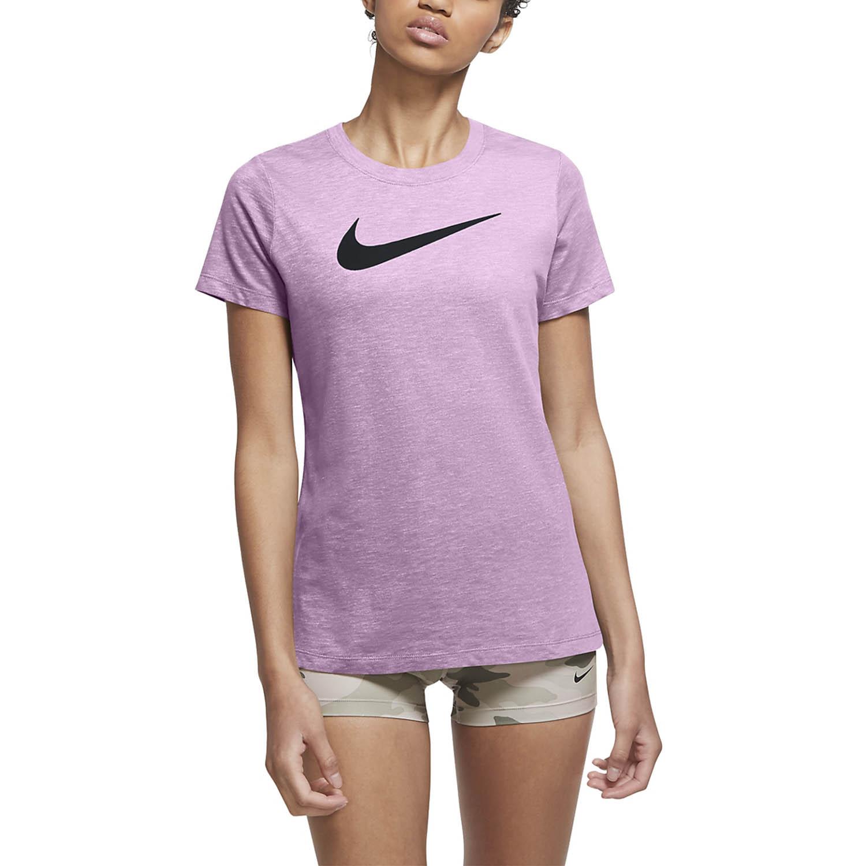 Nike Dry Crew T-Shirt - Violet Shock/Pink Foam/Black