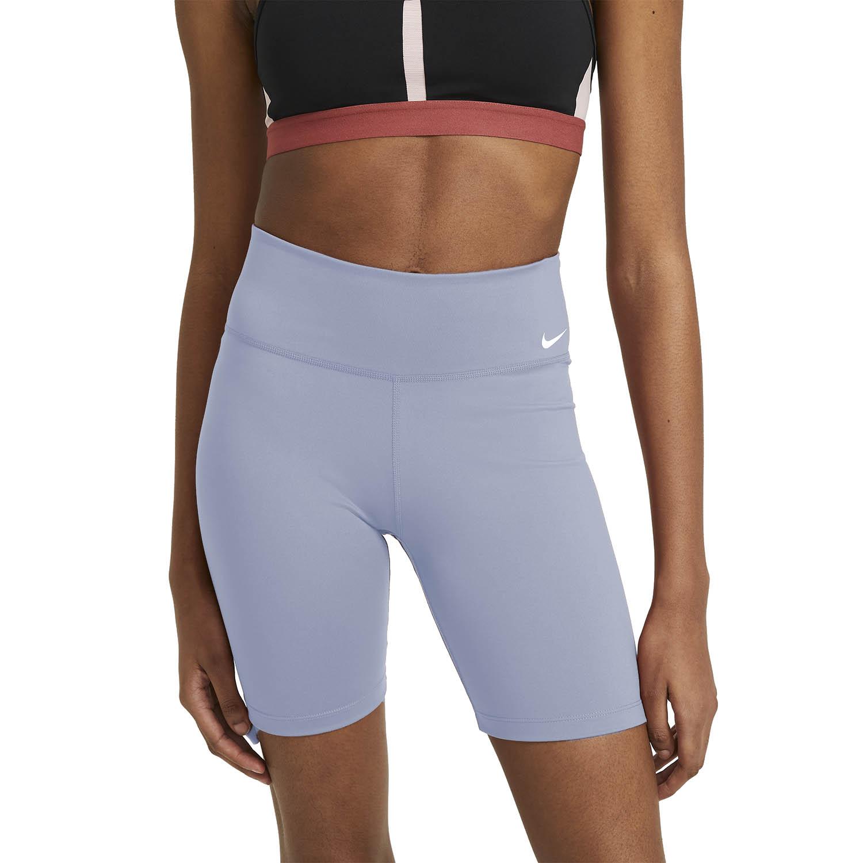 Nike One Mid Rise 7in Shorts - Ashen Slate/White