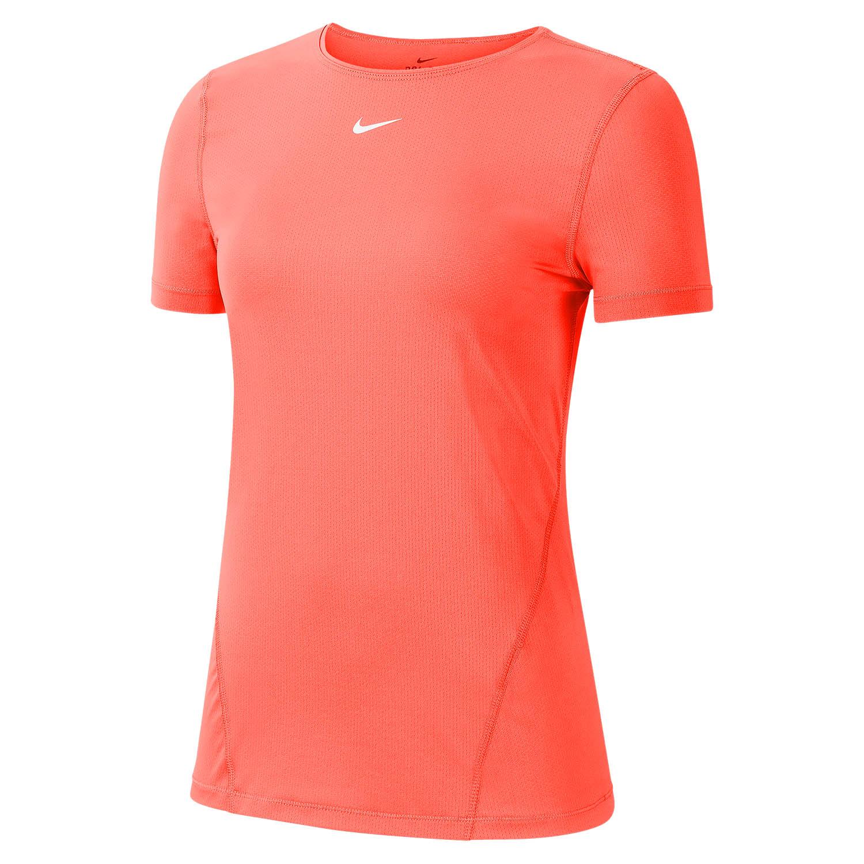 Nike Pro T-Shirt - Bright Mango/White