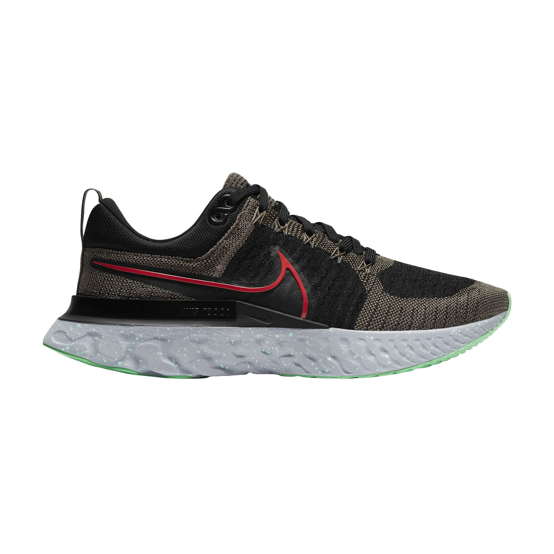 Nike React Infinity Run Flyknit 2 - Ridgerock/Chile Red/Black/Green Glow