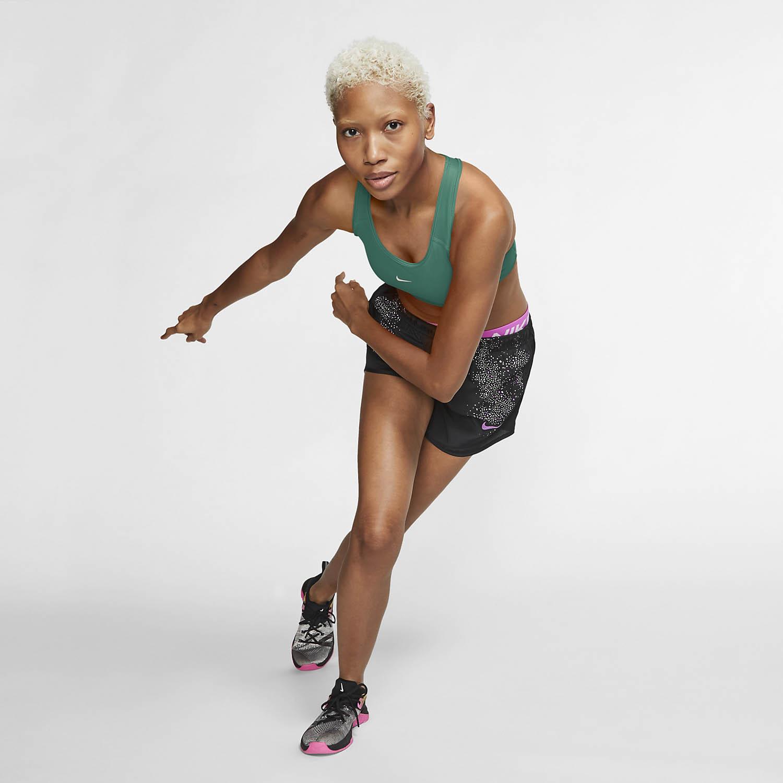 Nike Swoosh Sports Bra - Neptune Green/White