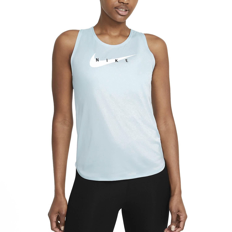 Nike Swoosh Run Tank - Glacier Blue/Reflective Silver