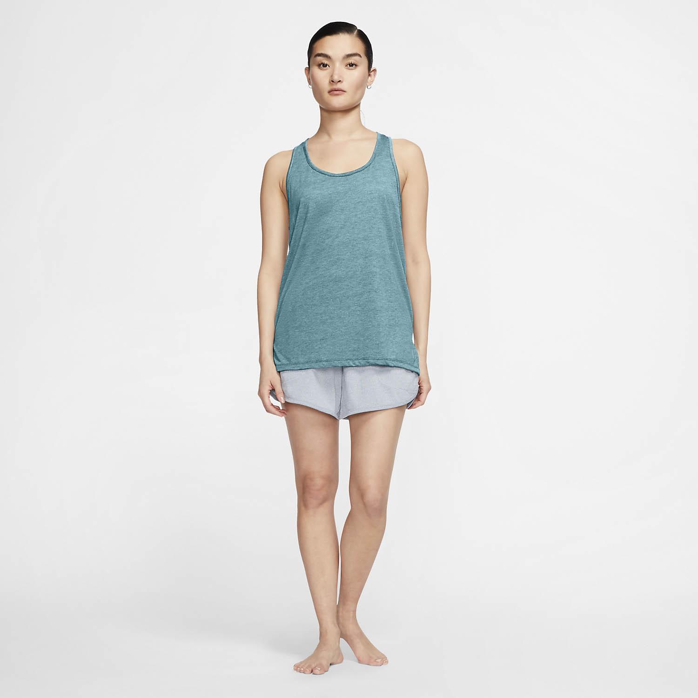 Nike Yoga Tank - Cerulean Heater/Glacier Blue/Limited Armory Blue