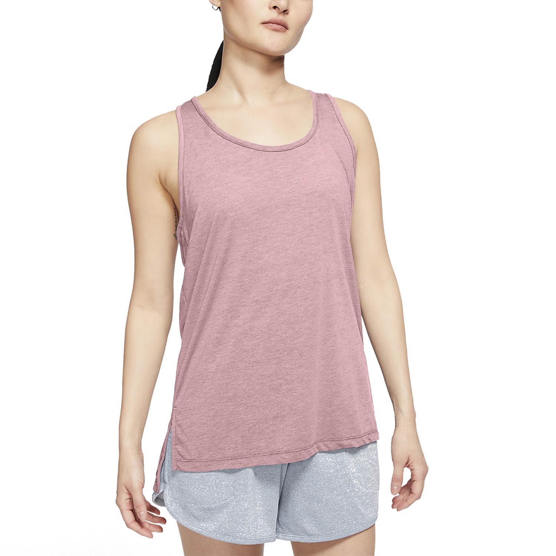 Nike Yoga Tank - Pink Glaze/Heather/White/Rust Pink