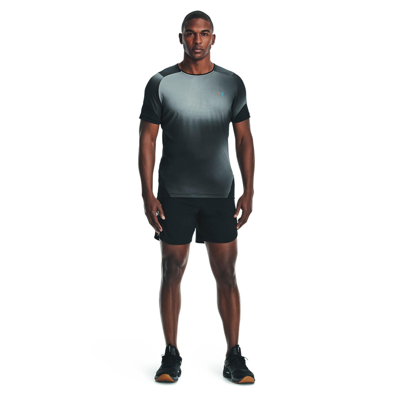 Under Armour HeatGear Rush 2.0 Print T-Shirt - Black