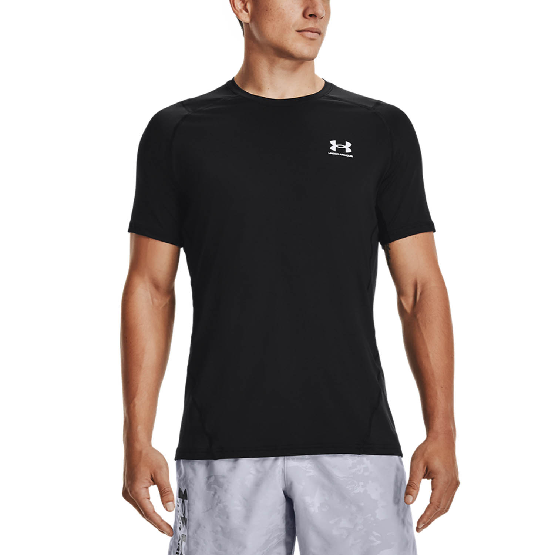 Under Armour HeatGear Knit T-Shirt - Black/White