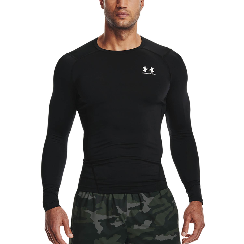 Under Armour HeatGear Compression Shirt - Black/White