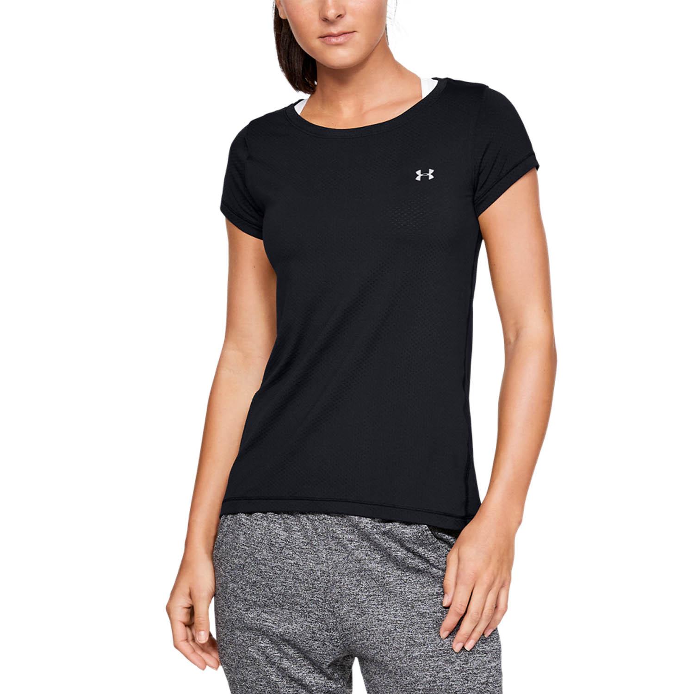 Under Armour HeatGear T-Shirt - Black/Metallic Silver