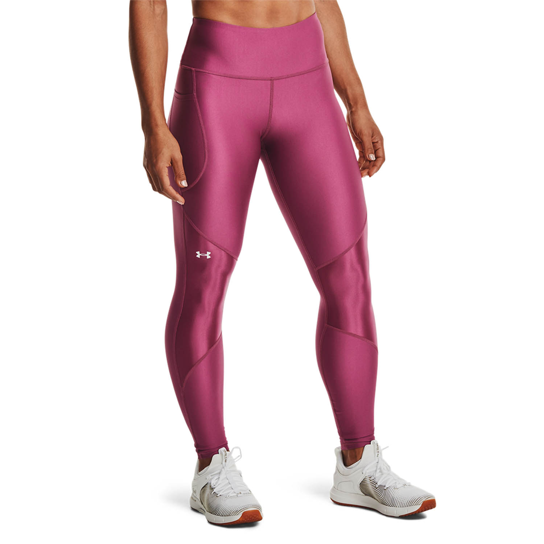 Under Armour HeatGear Shine Tights - Pink Quartz/Polaris Purple