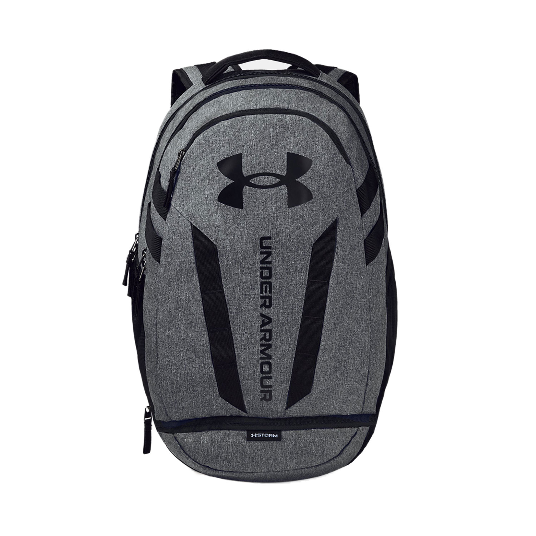 Under Armour Hustle 5.0 Backpack - Black/Graphite Medium Heather