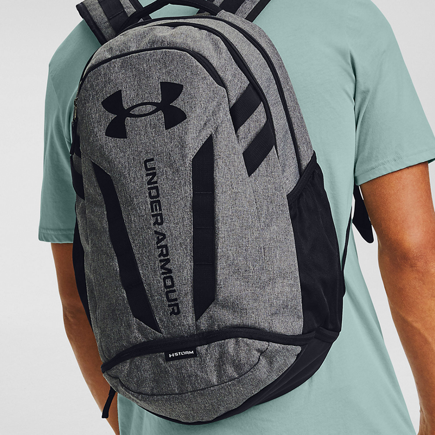 Under Armour Hustle 5.0 Mochila - Black/Graphite Medium Heather