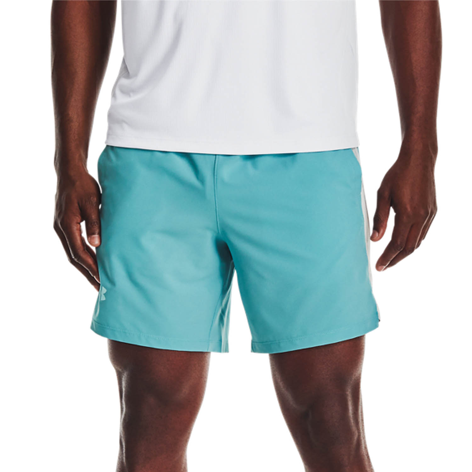 Under Armour Launch 7in Shorts - Cosmos/Halo Gray/Reflective
