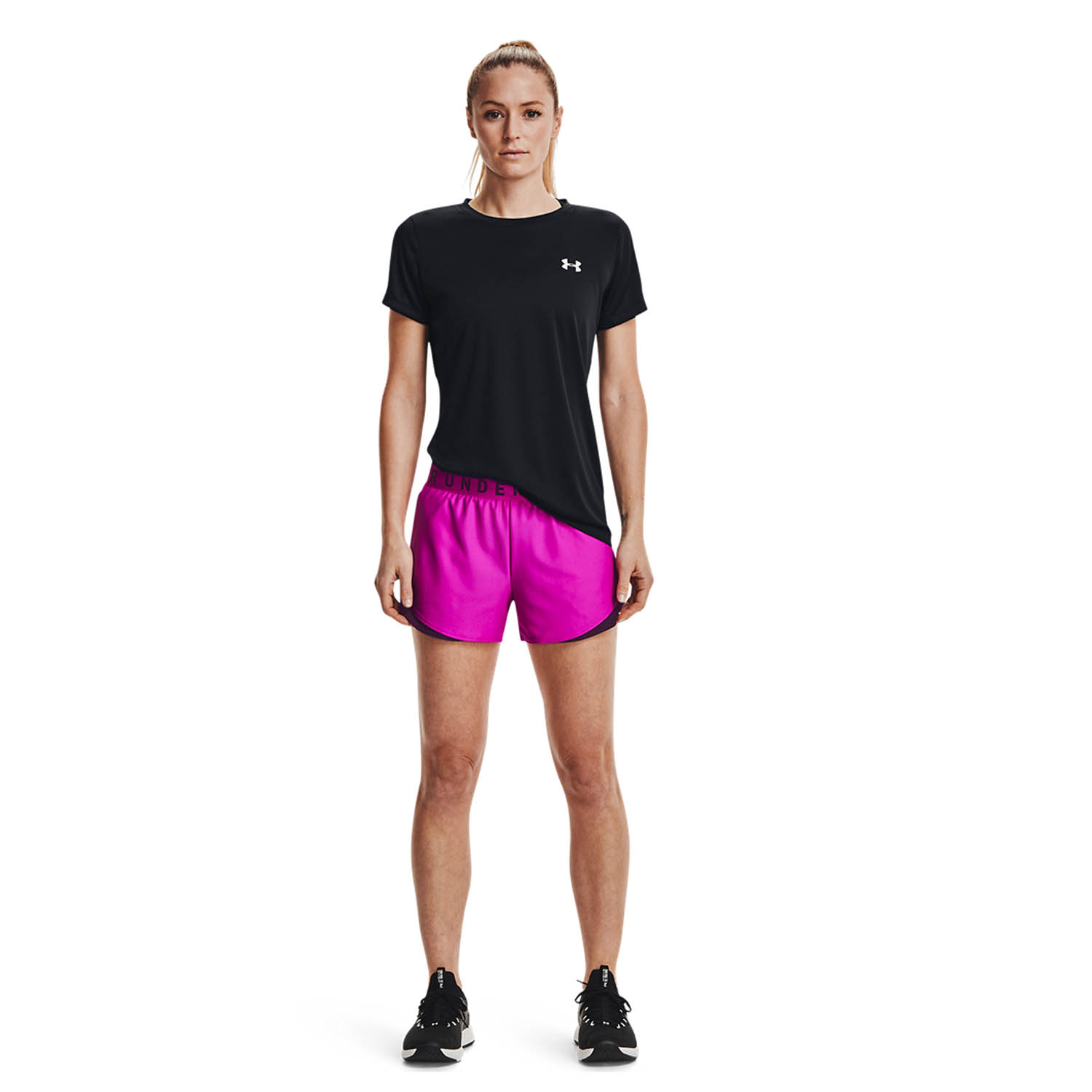Under Armour Play Up 3.0 3in Shorts - Meteor Pink/Polaris Purple