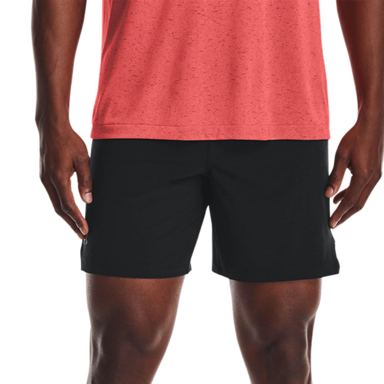 Under Armour Speedpocket 7in Shorts - Black/Venom Red