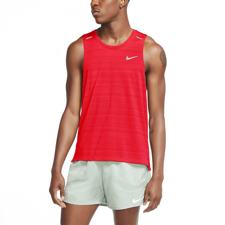 Nike Dri FIT Miler Run Canotta Bright CrimsonReflective Silver