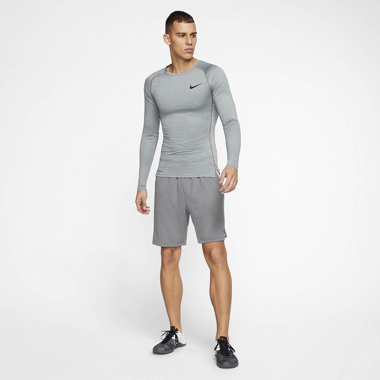 Nike Pro Shirt - Smoke Grey/Light Smoke Grey/Black