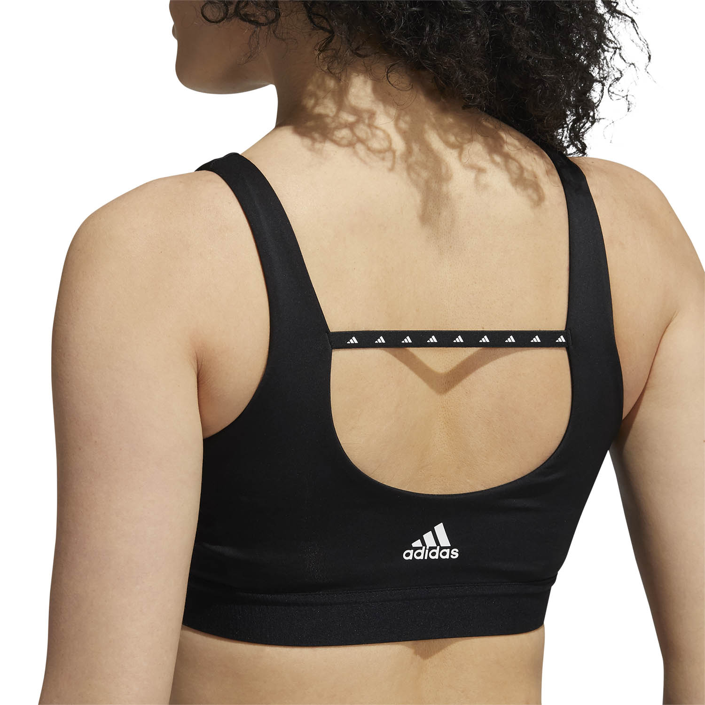 adidas Dont Rest 3 Stripe Reggiseno Sportivo - Black/White