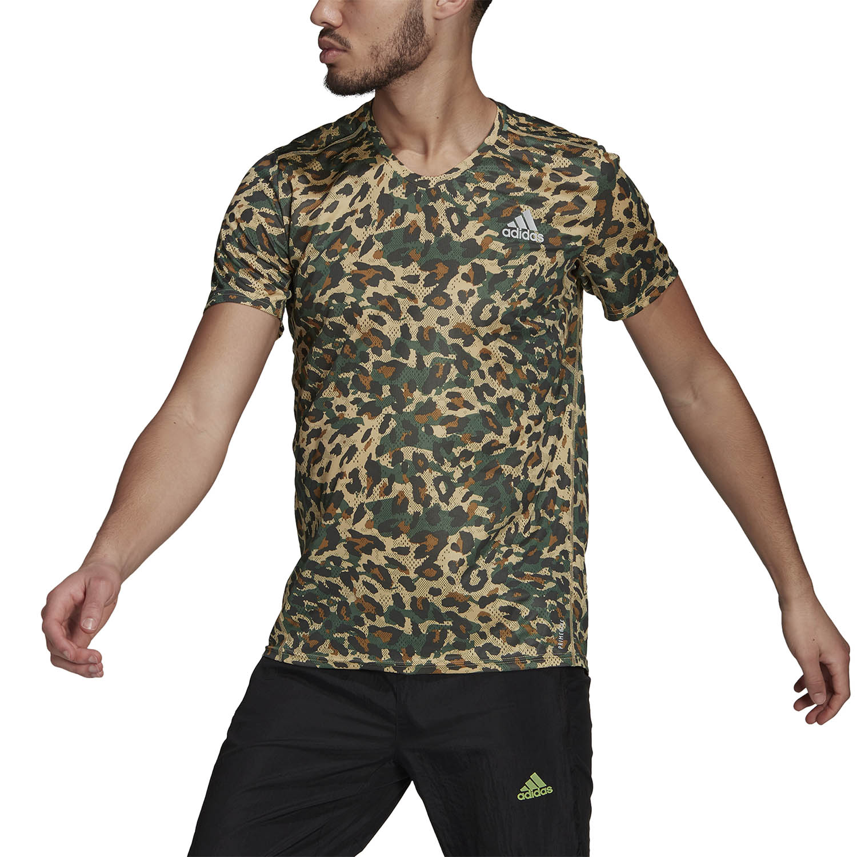 adidas Fast Primeblue Graphic T-Shirt - Hazy Beige