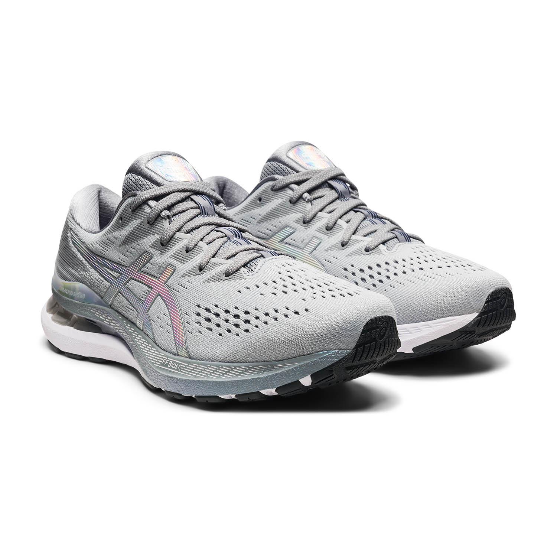 Asics Gel Kayano 28 Platinum - Piedmont Grey/White