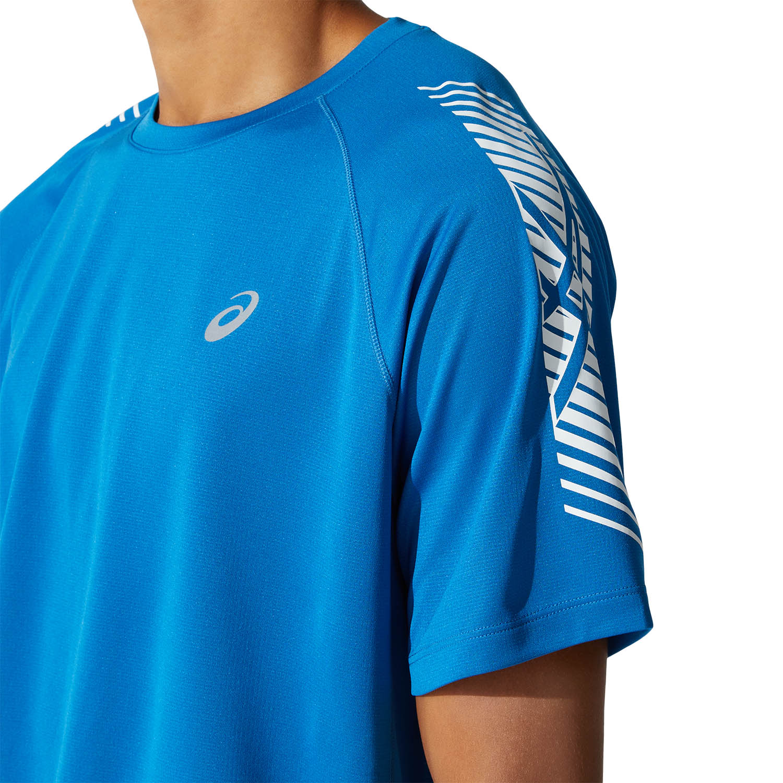 Asics Icon Logo Camiseta - Reborn Blue/Brilliant White