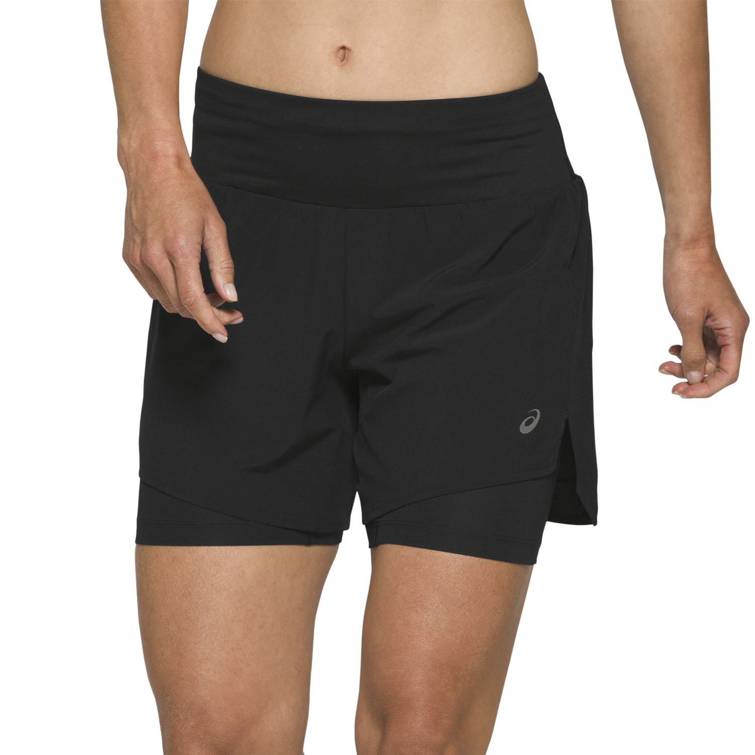 Asics Road 2 in 1 5in Shorts - Performance Black