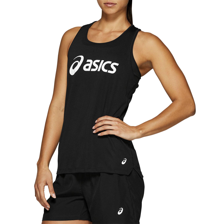 Asics Silver Logo Tank - Performance Black/Brilliant White