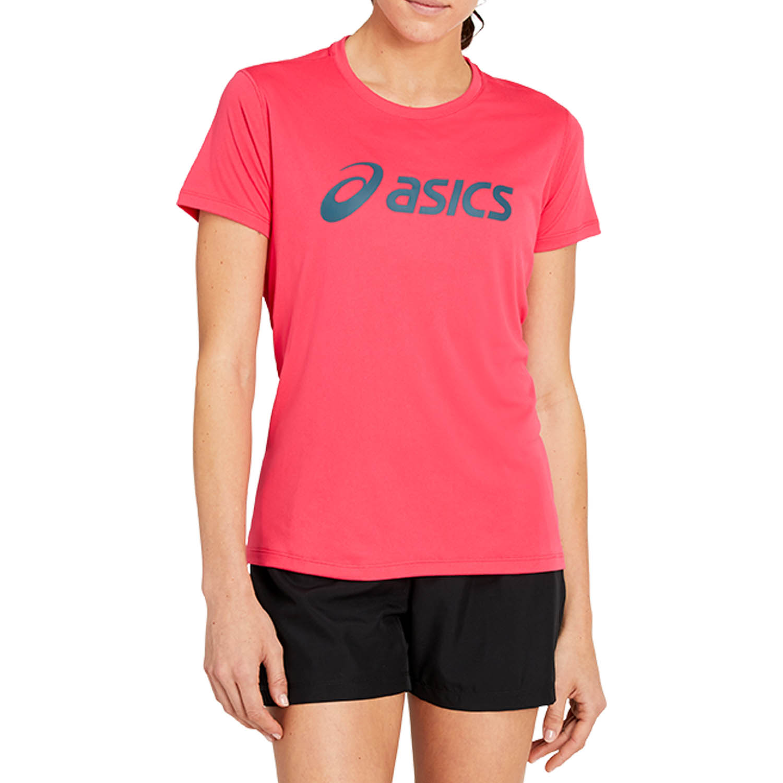 Asics Silver Logo T-Shirt - Pixel Pink/Magnetic Blue