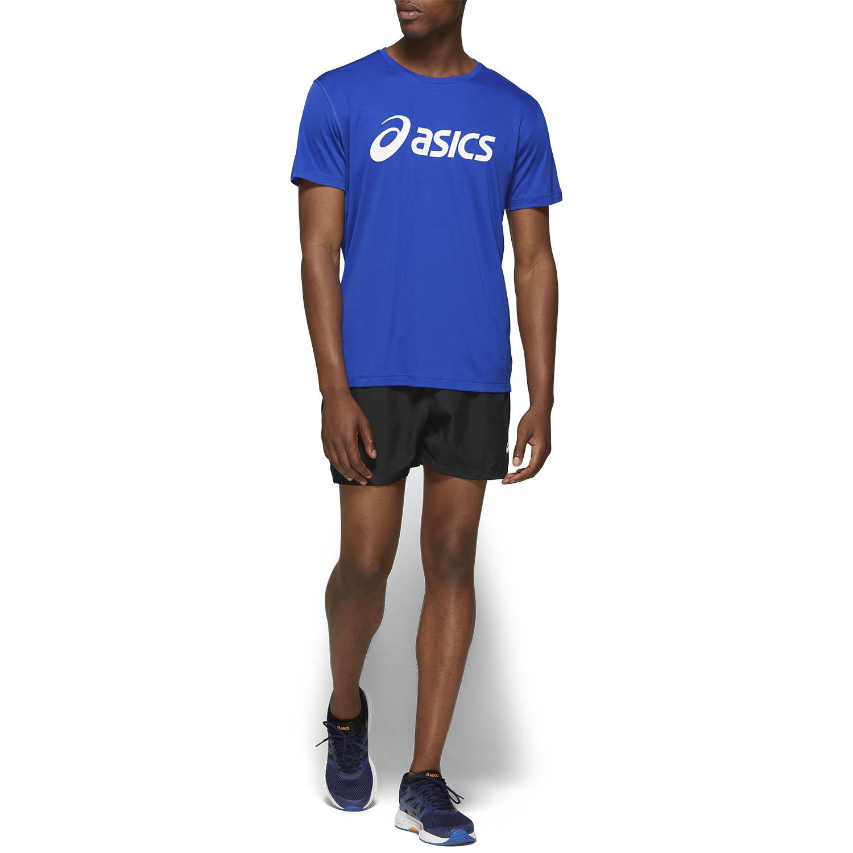 Asics Silver Logo Camiseta - Asics Blue/Brilliant White