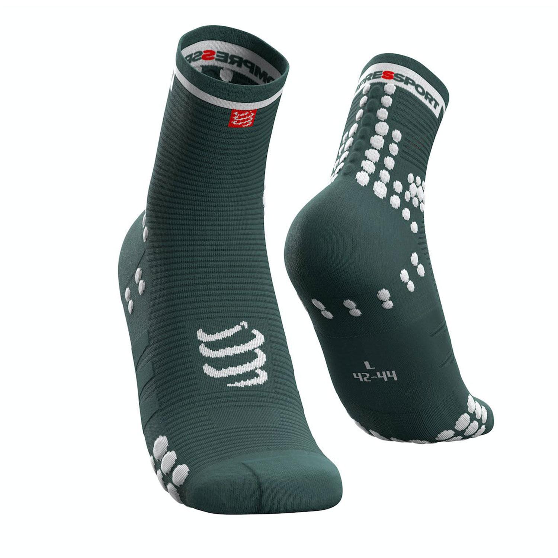 Compressport Pro Racing V3.0 Run Socks - Silver Pine/White
