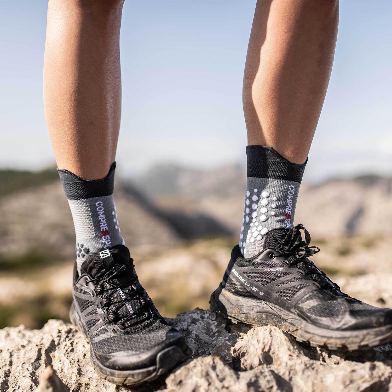 Compressport Pro Racing V3.0 Trail Socks - Grey Melange