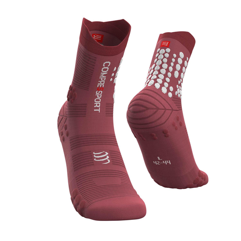 Compressport Pro Racing V3.0 Trail Socks - Garnet Rose