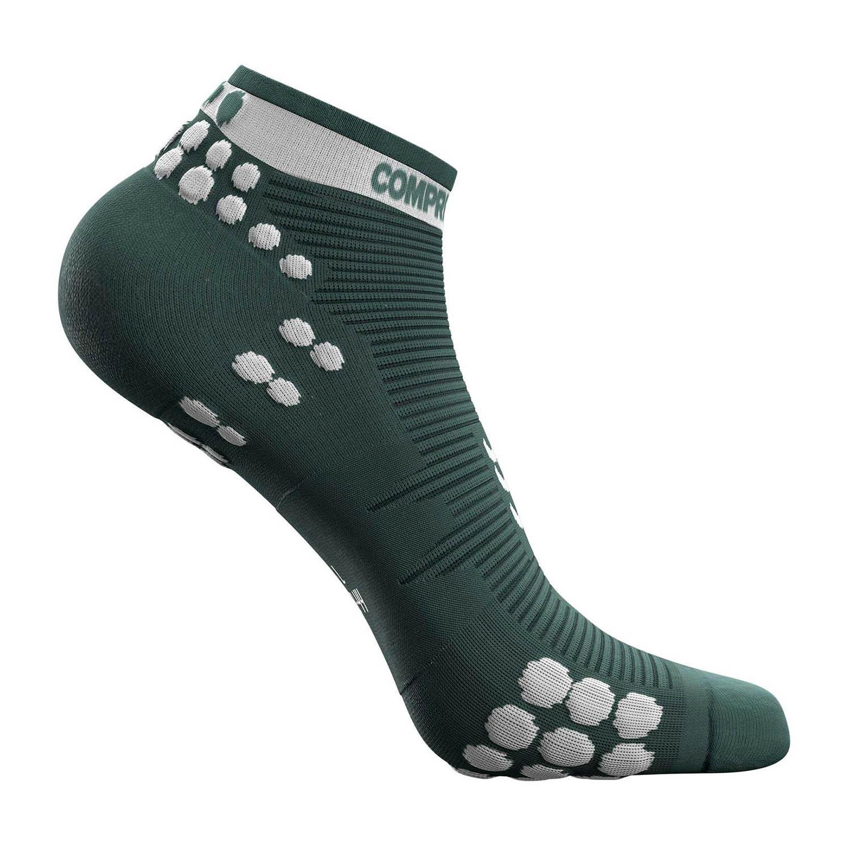 Compressport Pro Racing V3.0 Run Low Socks - Silver Pine/White