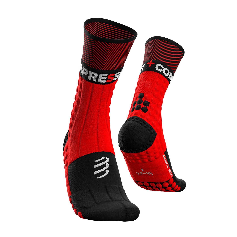 Compressport Pro Racing Winter Trail Socks - Red/Black