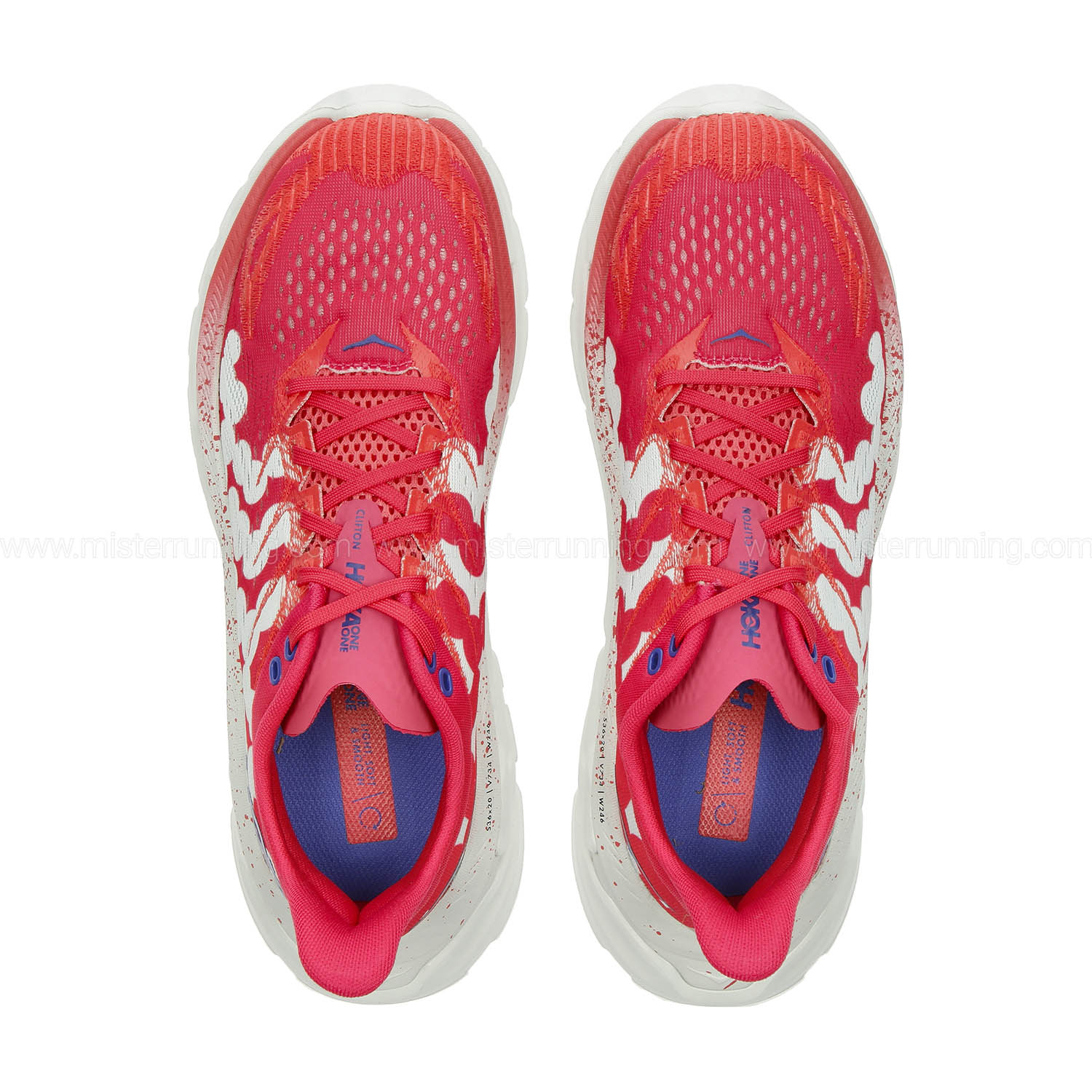 Hoka One One Clifton Edge Geometric - Paradise Pink/Blue Flower
